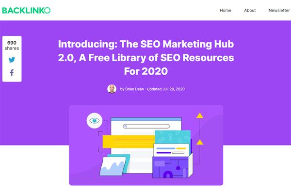 Backlinko SEO Marketing Hub 2.0