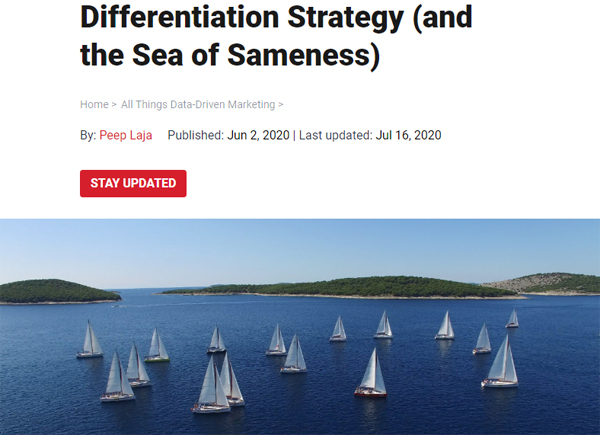 Differentiation Strategy (and the Sea of Sameness