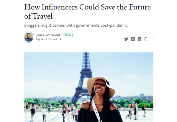 How Influencers Could Save the Future of Travel