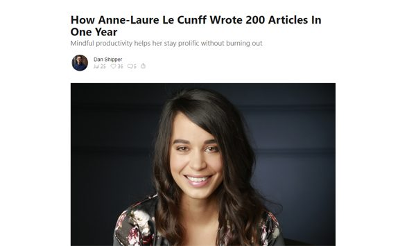 How Anne-Laure Le Cunff Wrote 200 Articles In One Year