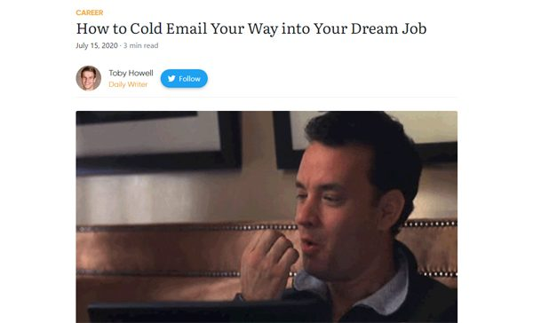 How to Cold Email Your Way into Your Dream Job