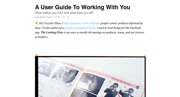 A User Guide To Working With You