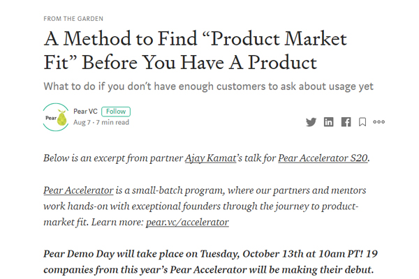 "A Method to Find ""Product Market Fit"" Before You Have A Product"