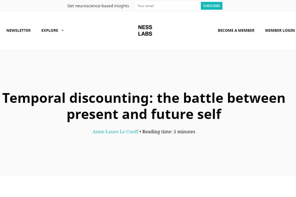 Temporal Discounting: The Battle Between Present and Future Self