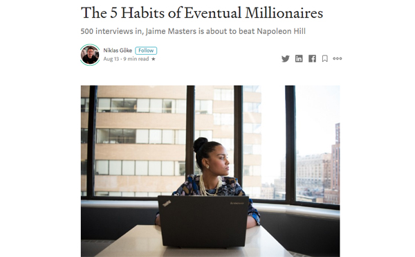The 5 Habits of Eventual Millionaires