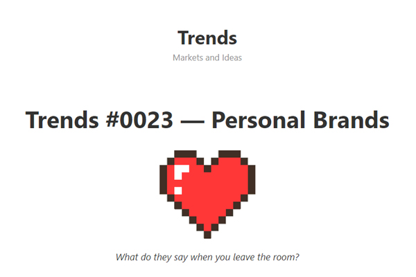 The Future of Personal Brands