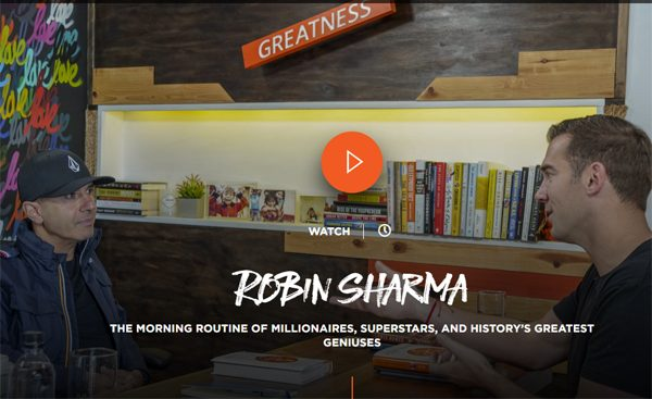 Robin Sharma: The Morning Routine of Millionaires