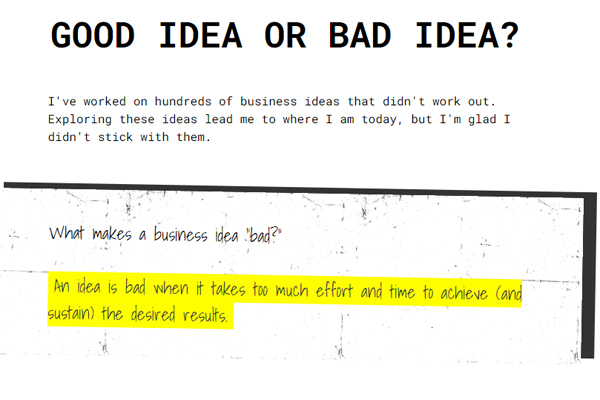 Is your business idea good or bad?