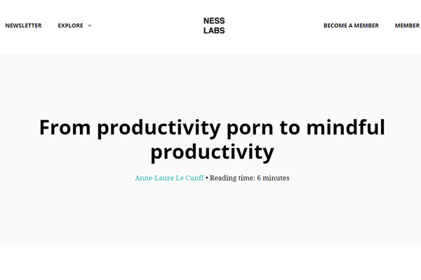 From productivity porn to mindful productivity