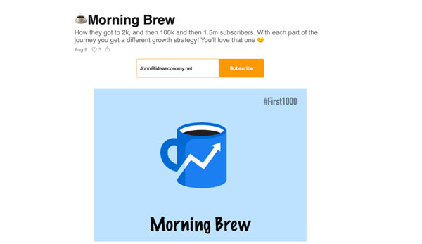 How Morning Brew Got to 1.5m Subscribers