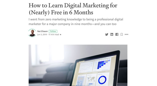 How to Learn Digital Marketing for Almost Free in 6 Months