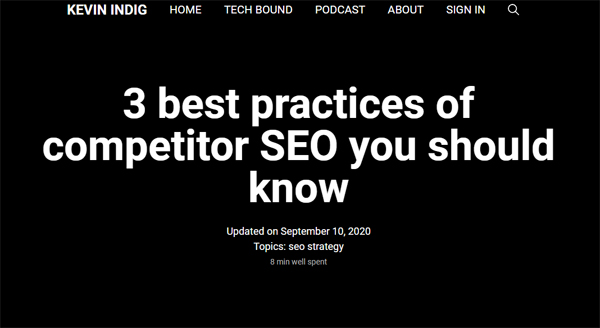 3 best practices of competitor SEO