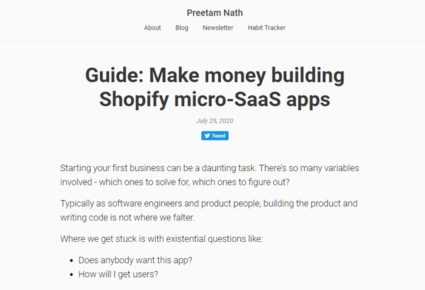Guide: Make money building Shopify micro-SaaS apps