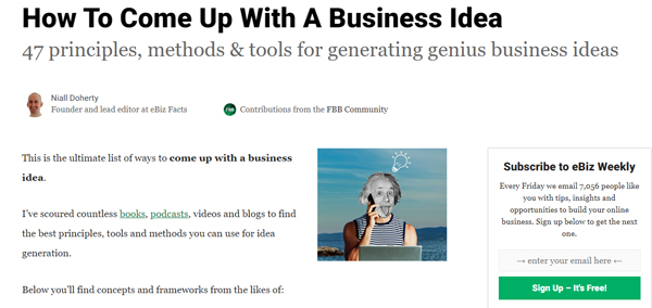 How To Come Up With A Business Idea (47 Genius Ways)