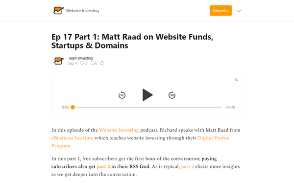 Matt Raad on Buying Content Websites as an Investment Fund