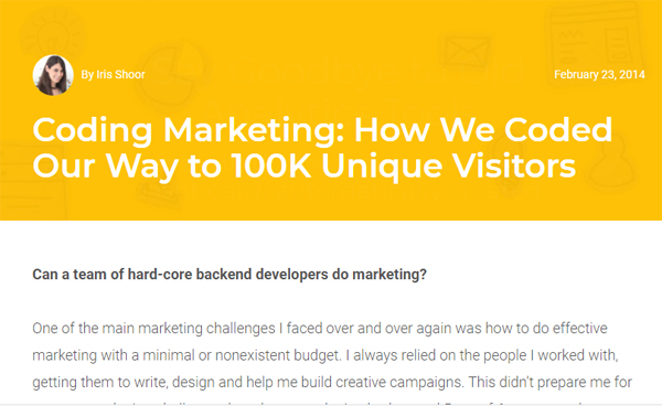 Coding Marketing: How We Coded Our Way to 100K Unique Visitors