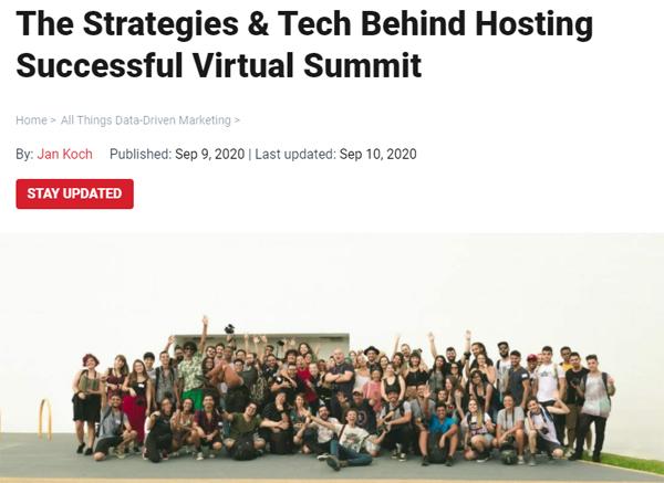The Strategies & Tech Behind Hosting Successful Virtual Summit