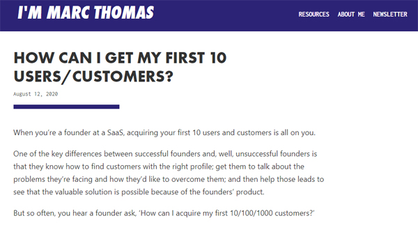 How can I get my first 10 users/customers?