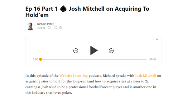 Josh Mitchell on Purchasing Websites as a Business Strategy