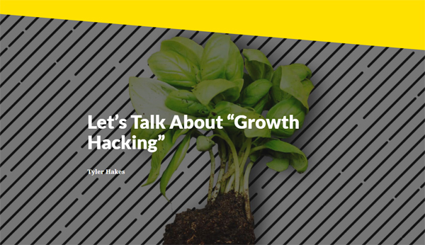 Let's Talk About 'Growth Hacking'