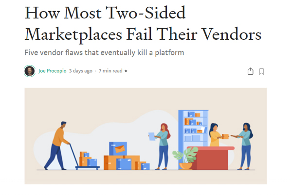 How Most Two-Sided Marketplaces Fail Their Vendors
