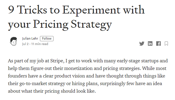 9 Tricks to Experiment with your Pricing Strategy