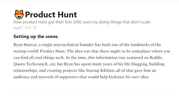 How Product Hunt got their first 2000 users by doing things that don't scale