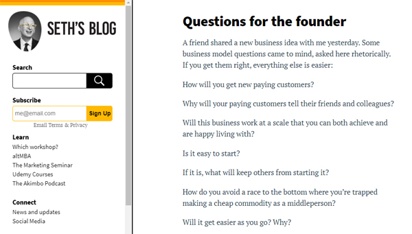 Questions for the founder
