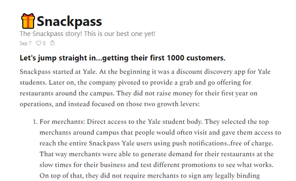 How Snackpass Got Their First 1000 Customers