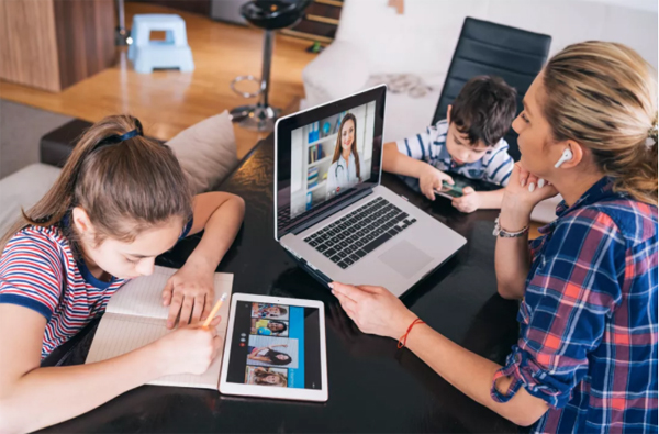 Parents have difficulties working while taking care of kids at home.