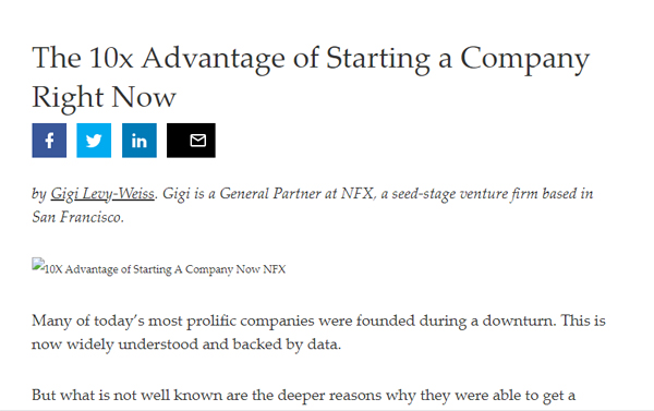 The 10x Advantage of Starting a Company Right Now