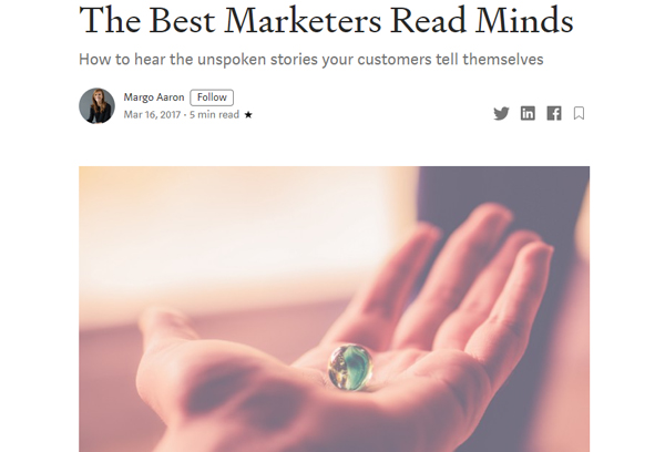 The Best Marketers Read Minds