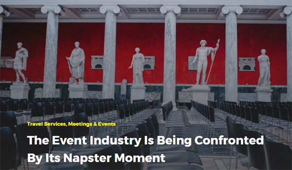 The Event Industry Is Being Confronted By Its Napster Moment