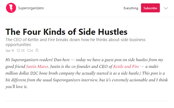 The Four Kinds of Side Hustles