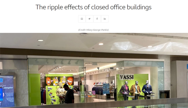 The Ripple Effects of Closed Office Buildings