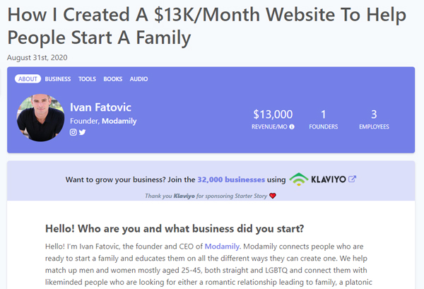 The Value of Niching Down:How I Created A $13K/Month Website To Help People Start A Family