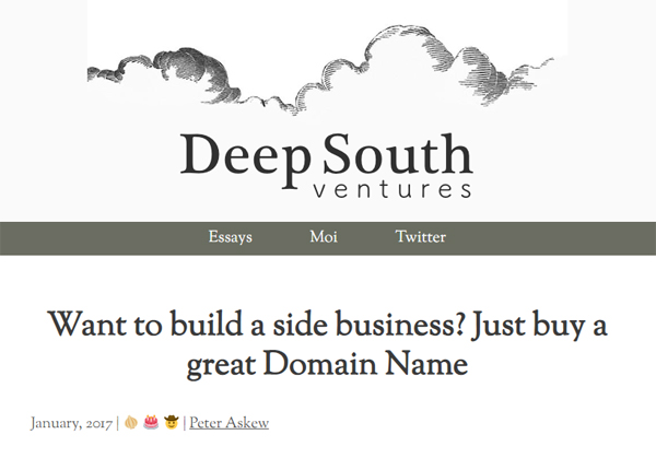 Want to build a side business? Just buy a great Domain Name