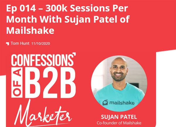 Sujan Patel of Mailshake