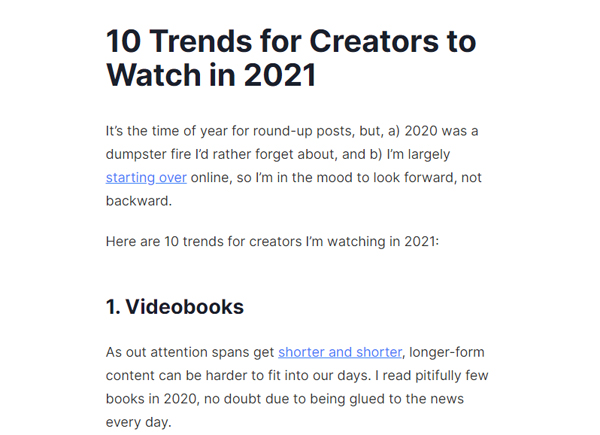 10 Trends for Creators to Watch in 2021