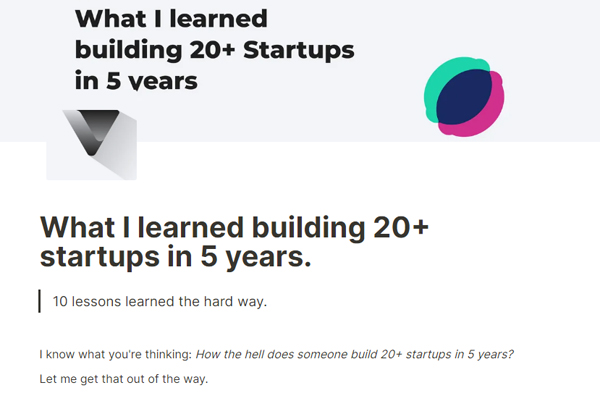 What I learned building 20+ startups in 5 years.