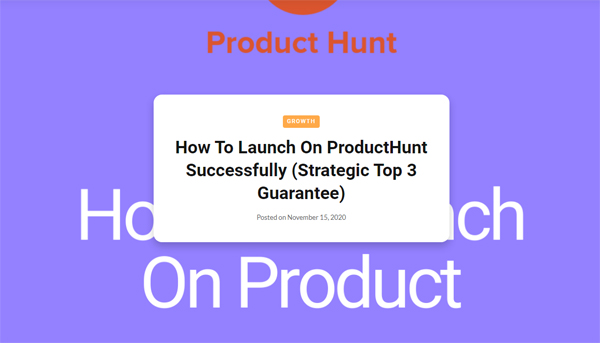 Building Startups: How to launch on ProductHunt successfully