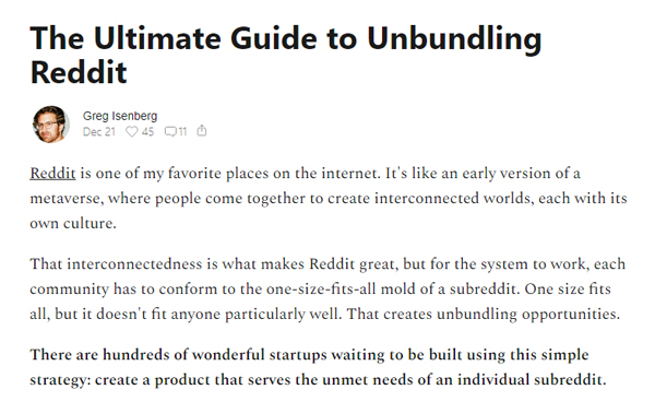 The Ultimate Guide to Unbundling Reddit