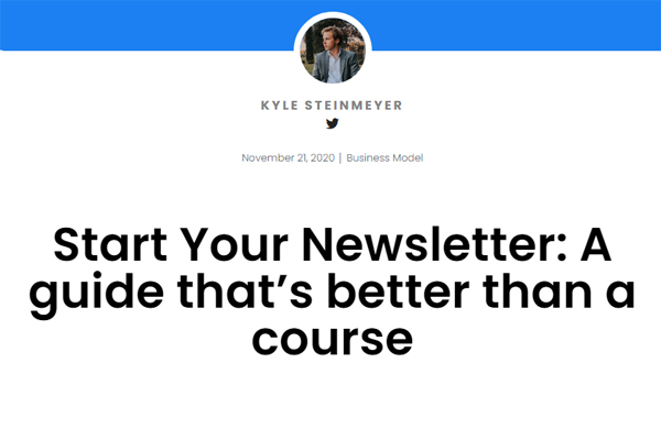 Start Your Newsletter: A guide that's better than a course – Business Seed