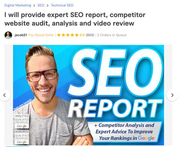 Fiverr SEO Report