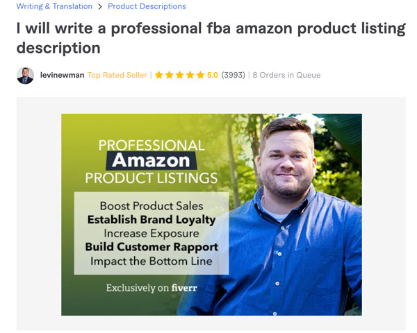 Fiverr Amazon Product Listing