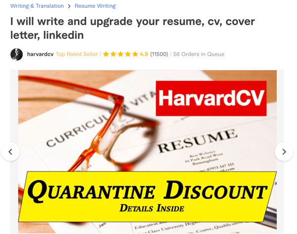 Fiverr Resume Writing
