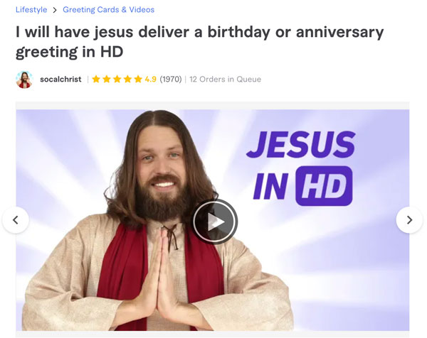 Fiverr Jesus Videos