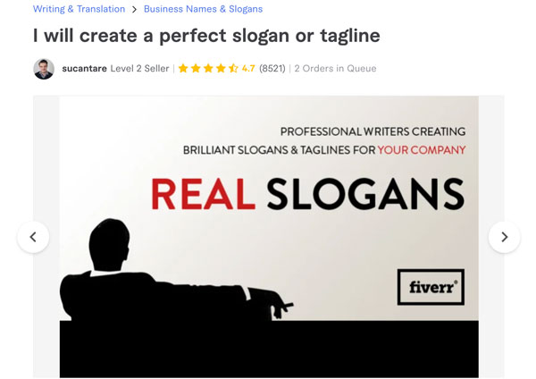 Fiver Business Slogans