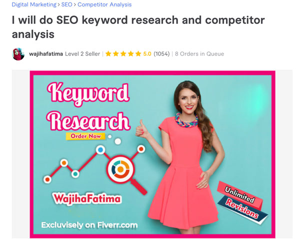 Fiverr Keyword Research